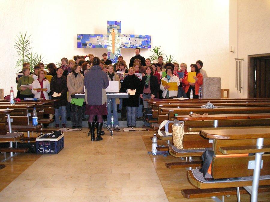 2006-02-18 und 02-19 Junge Chorgemeinschaft Probenwochenende Weikersheim 029